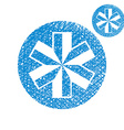 Blue-white snowflake simple single color icon vector image