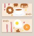 breakfast concept brunch vector image vector image