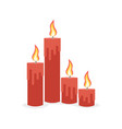 burning candles set vector image vector image