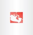 canada logo map icon vector image vector image