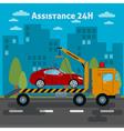 Car Assistance Roadside Assistance Car Tow Truck vector image vector image