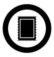 car wheel icon black color in circle vector image vector image