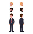 character construction set vector image vector image