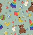 Children seamless pattern