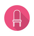 Classic chair flat linear long shadow icon