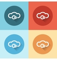 cloud service with gears flat icons vector image