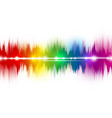 colorful music sound waves on white background vector image vector image