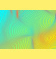 colourful holographic curved wavy lines abstract vector image vector image
