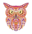 Detailed hand drawn doodle outline owl vector image vector image