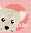 dog cute animal cartoon vector image vector image