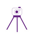 dotted shape digital camera technology object to vector image
