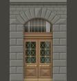 facade with entrance door vector image vector image