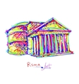 famous place of Rome Italy original drawing in vector image vector image