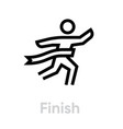 finish sport icon vector image