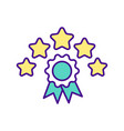 five star certificate rgb color icon vector image