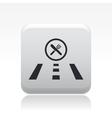 food road icon vector image vector image