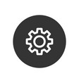 gear icon in modern style for web site and mobile vector image vector image