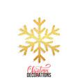 glitter snowflake christmas decoration element vector image