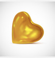 glossy golden heart - 3d icon vector image vector image