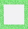 green pixel frame borders vector image vector image