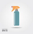 hairdresser pistol spray bottle icon in flat style vector image vector image