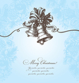 Hand drawn Christmas background with bell vector image