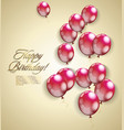happy birthday card vintage design vector image