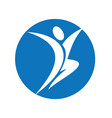 happy human character logo vector image vector image
