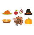 happy thanksgiving day symbols design holiday vector image vector image
