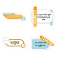 infographics template four options with paper vector image vector image