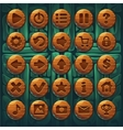Jungle shamans GUI set buttons vector image vector image