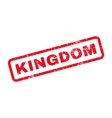 Kingdom Text Rubber Stamp vector image vector image