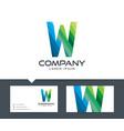 letter w - logo design vector image