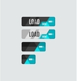 Load button futuristic hi-tech UI design vector image vector image