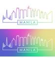 manila skyline colorful linear style editable vector image vector image