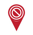 map pin pointer blank ban icon vector image