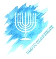 Menora For Hanukkah Celebration vector image vector image