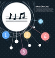 music notes icon with the background to the point vector image vector image