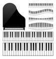 piano with keyboardkey musical background vector image vector image