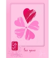 Postcard for Valentin day with flower has a petals vector image vector image