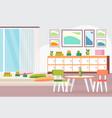 preschool modern kindergarten children classroom vector image vector image