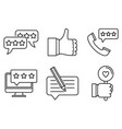 review icons set outline style vector image vector image