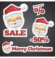 Santa Claus Discount Sale Stickers vector image vector image