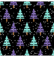 Seamless christmas pattern with christmas trees vector image
