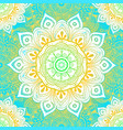seamless ethnic pattern with floral motives vector image vector image