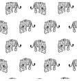 seamless pattern with tigers on white vector image