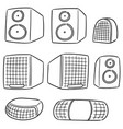 set of speaker vector image