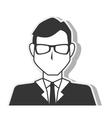 silhouette man elegant executive design vector image