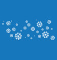 snowflakes style design vector image