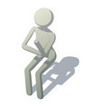 stick man is pupil icon isometric style vector image vector image